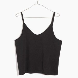 Madewell Anytime Cami Top in Black